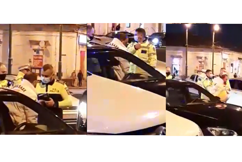 Șofer beat criță, oprit de poliție în centrul Aradului